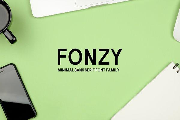 Fonzy Minimal Sans Serif Font Pack