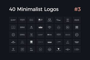40 Minimalist Logos Vol. 3