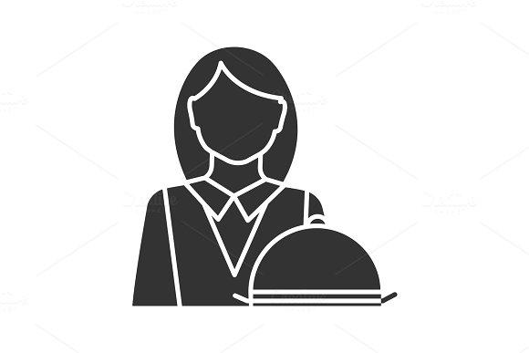 Waitress Glyph Icon