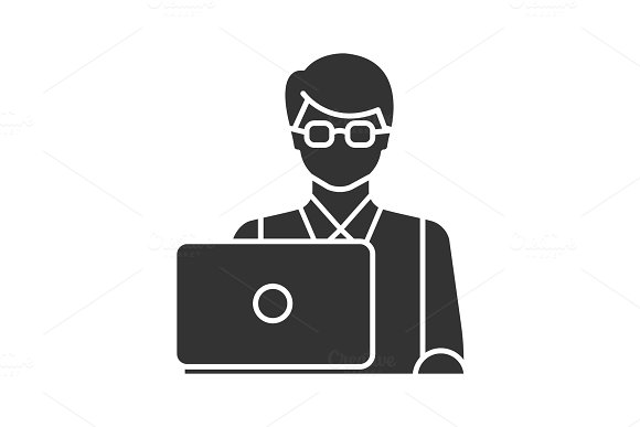 Programmer Glyph Icon