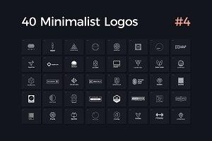 40 Minimalist Logos Vol. 4