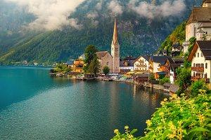 Hallstatt alpine village in Austria