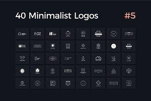 40 Minimalist Logos Vol. 5