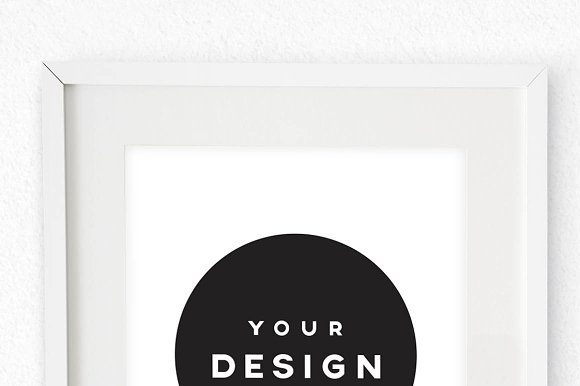 A4 White Portrait Frame On Wall Product Mockups Creative Market