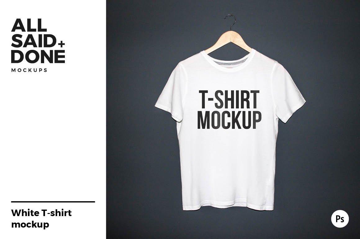 Black T Shirt Model Mockup