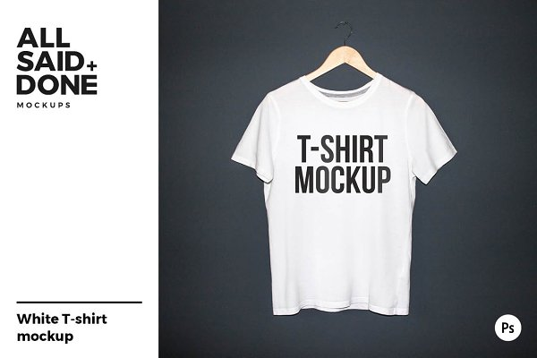 White T Shirt Mockup On Grey Wall Psd Template 700 Free