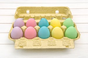 Colored Easter eggs decoration