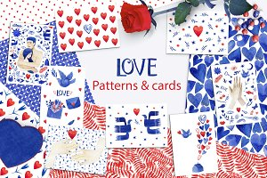 Patterns & cards. Love