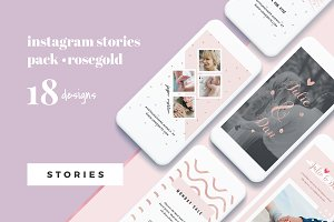 Rosegold Instagram Stories Pack