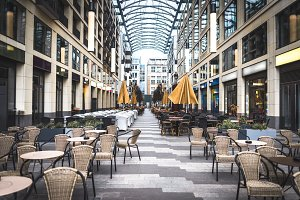 Outdoor cafe at the city center