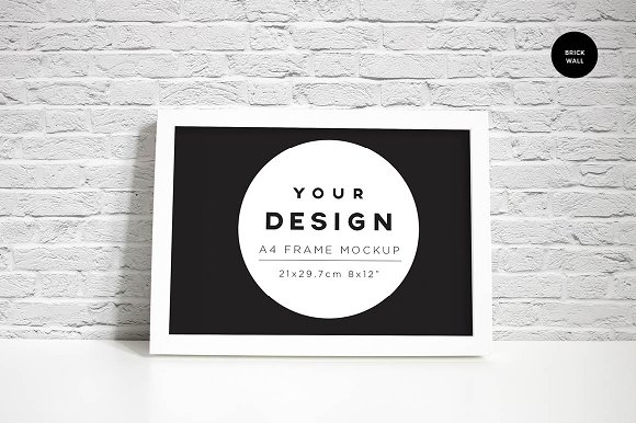 A4 Landscape White Frame Mockup Product Mockups Creative Market