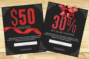 Bow Gift Card Voucher Template