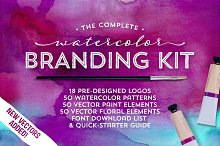 The Watercolor Branding Kit