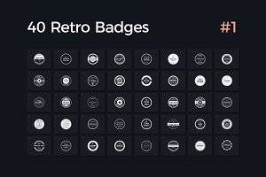 40 Retro Badges Vol. 1