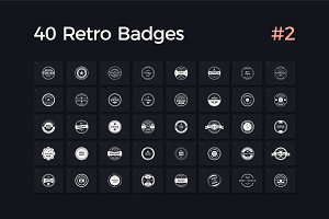 40 Retro Badges Vol. 2