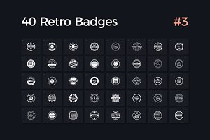 40 Retro Badges Vol. 3