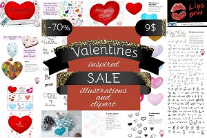 70% off Valentines inspired SALE