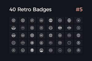 40 Retro Badges Vol. 5