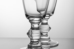 Two vintage glass for wine