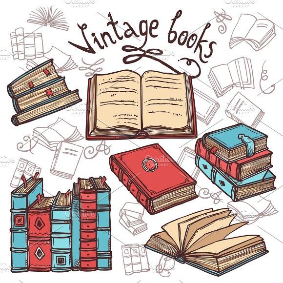 Retro sketch books set