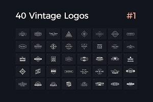 40 Vintage Logos Vol. 1