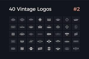 40 Vintage Logos Vol. 2