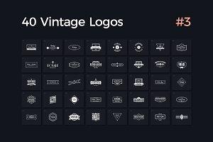 40 Vintage Logos Vol. 3