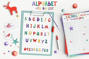 Funny watercolor Alphabet