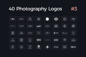 40 Photography Logos Vol. 3