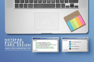 Notepad programmer business card
