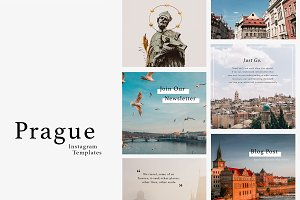 PRAGUE Instagram Templates Pack