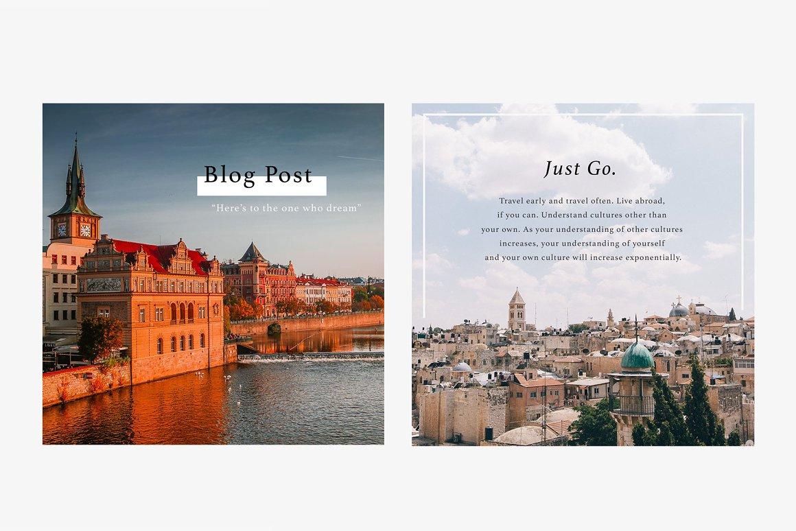 PRAGUE Instagram Templates Pack
