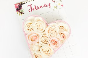February Valentine's Day Stock Photo