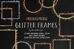 Metal Glitter Digital Frames