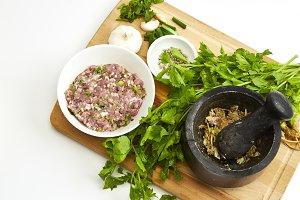 Pork soup With vegetables ingredient