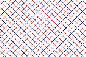 Blue red and white checker pattern