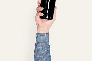 Hand holding bottle (PSD)