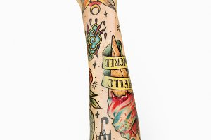 Tattooed hand (PSD)