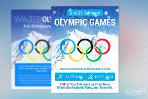 Winter Olympic Games PUB Flyer
