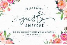 Just Awesome Typeface+Bonus
