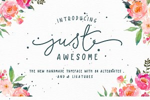 Just Awesome Typeface+Bonus