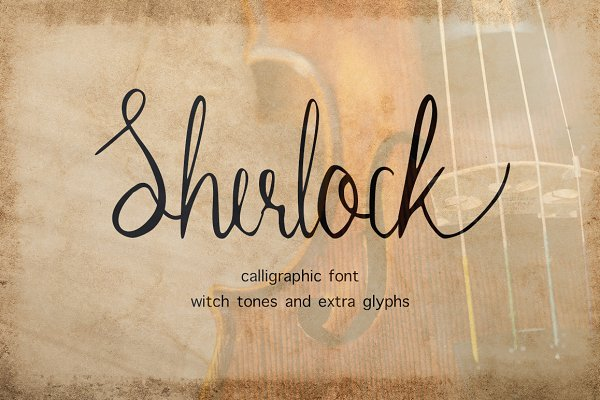 Sherlock calligraphy script font