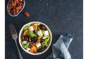 Beetroot, Feta Cheese and Orange Salad.