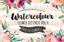 20%Off-Watercolor  DIY pack Vol.4