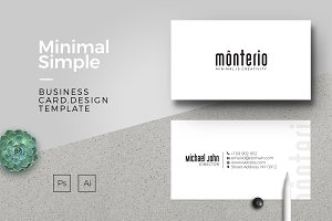 Monterio | Minimal Business Card