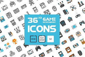 36x3 Game Entertainment icons