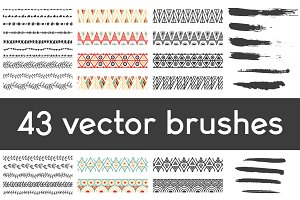 43 vector brushes set