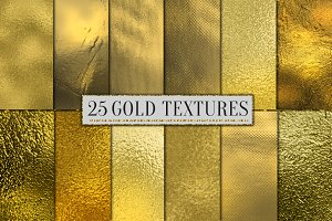 25 Gold Foil Paper Gold Background