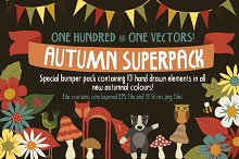 SALE! Autumn Superpack! 101 doodles