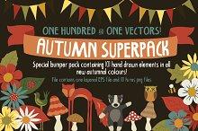 SALE! Autumn Superpack! 101 doodles